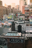 Граффити крыши Нью-Йорка Стоковое Изображение RF