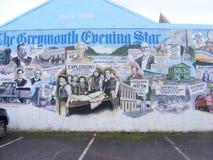 Граффити на нашей стене магазина Стоковая Фотография