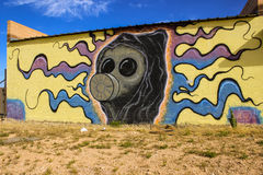 Граффити на покинутом здании Стоковое фото RF