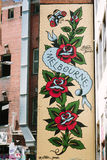 Граффити на стенах здания в Мельбурне Стоковые Фото