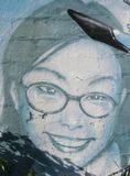 Граффити на стене в Атланте, GA стоковое фото