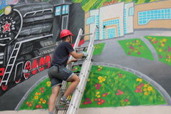 Граффити на стене здания Стоковое фото RF