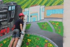 Граффити на стене здания Стоковое Изображение RF