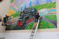 Граффити на стене здания Стоковое Изображение