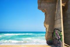 Граффити на стене морем Стоковое фото RF