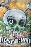 Граффити на стене покинутого здания в Святом-Petesburg Стоковое Фото