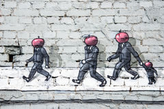 Граффити на стене Стоковое фото RF