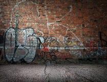 Граффити на стене Стоковые Фото
