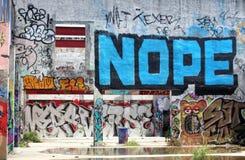 Граффити на стене Стоковые Изображения
