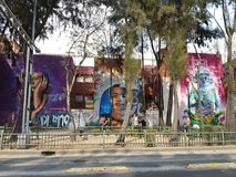 граффити на улицах Мехико стоковое фото rf