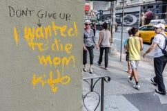Граффити на улице Нью-Йорка Стоковые Изображения