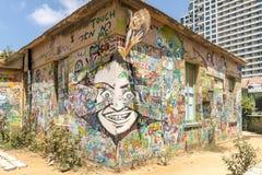 Граффити на улицах Тель-Авив Стоковая Фотография