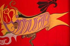 Граффити на bandoned строя стене Стоковые Фото
