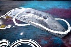 Граффити огораживают, городской Хьюстон, TX 6 Стоковое Изображение RF