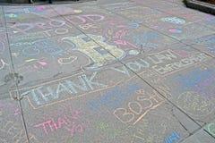 Граффити около улицы Boylston в Бостоне, США, Стоковые Фотографии RF