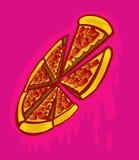 Граффити пиццы Стоковые Фото