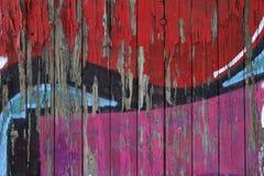 Граффити покрыли стену Стоковое фото RF