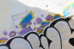 Граффити покрыли стену Стоковое Изображение