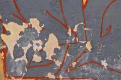 Граффити покрыли стену Стоковые Изображения
