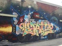 Граффити - Ракета Стоковое Изображение