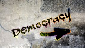 Граффити улицы к демократии стоковое изображение