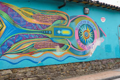 Граффити улицы на ¡ Bogotà Стоковое Изображение