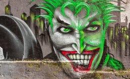 Граффити человеческого лица Стоковое Изображение