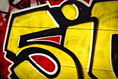 граффити 5it Стоковое Изображение