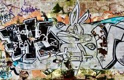 Граффити Bugs Bunny Стоковые Фото