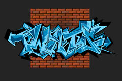 Граффити vector городское искусство Стоковая Фотография RF
