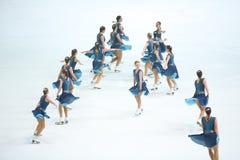 Грациозности команды катаясь на коньках Стоковые Изображения RF