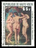 3 грациозности Питером Полом Rubens иллюстрация вектора