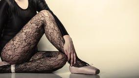 Грациозно артист балета женщины Стоковое Изображение RF