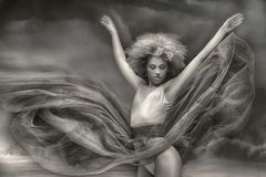 Грациозно Афро-американское ballerine стоковая фотография