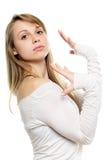 Грациозно белокурая женщина стоковое изображение rf