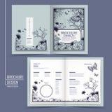 Грациозно дизайн брошюры полу-створки бесплатная иллюстрация