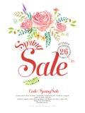 Грациозно дизайн плаката продажи весны бесплатная иллюстрация