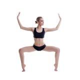 Грациозно тренировка артиста балета, изолированная на белизне Стоковые Фотографии RF