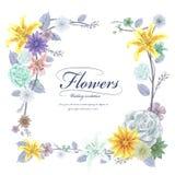 Грациозно флористический дизайн рамки бесплатная иллюстрация