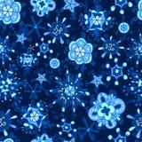 градиент если картина извлекла безшовную зиму вектора снежинки Стоковое Фото