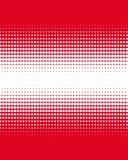Градиент красных точек на белизне Стоковые Изображения RF