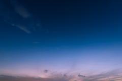 Градиент неба восхода солнца Стоковые Изображения RF