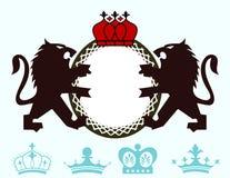 Гребень вензеля льва иллюстрация штока