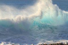 Гребень волны Shorebreak Стоковое Изображение RF