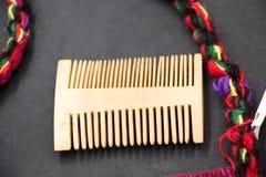 Гребень волос сделанный из древесины Стоковые Изображения