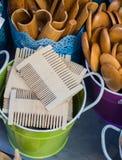 Гребень волос сделанный из древесины Стоковое Фото