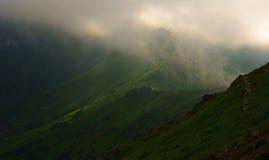 Гребень горы в тумане Tatry Стоковые Фотографии RF