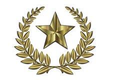 Гребень листового золота и золотая звезда бесплатная иллюстрация