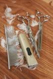 Гребень, клипер волос и ножницы Стоковые Фотографии RF