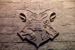 Гребень школы Hogwarts стоковые изображения rf